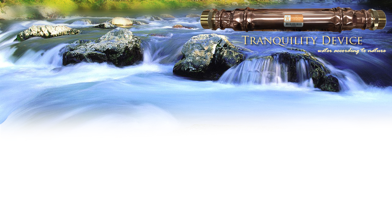 Tranquility Device water unit